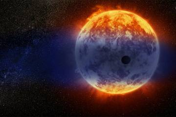 Atmosphere evaporates off of a planet